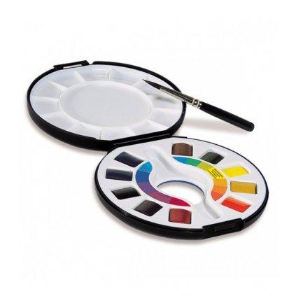 akvarelové barvy cestovní 10ksa