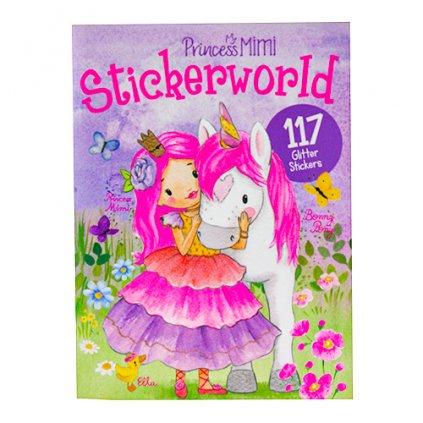 Princess Mimi, 3327016, kniha se třpytivými samolepkami k dotvoření