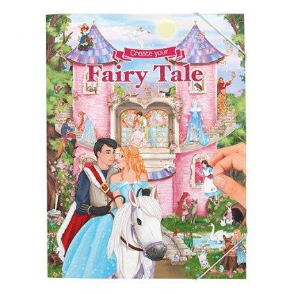 Create your, 3323334, Fairy tale, kreativní sešit se samolepkami