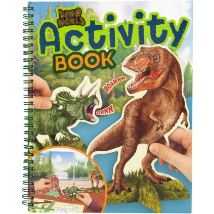 Dino world, 3323295, Activity book, kreativní sešit s dinosaury