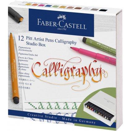 sada kaligrafických popisovačů v kazetě