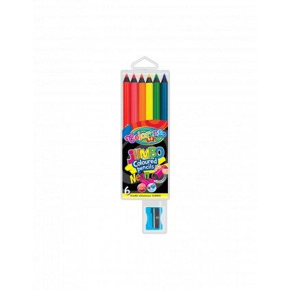 pastelky jumbo neon černé6ks