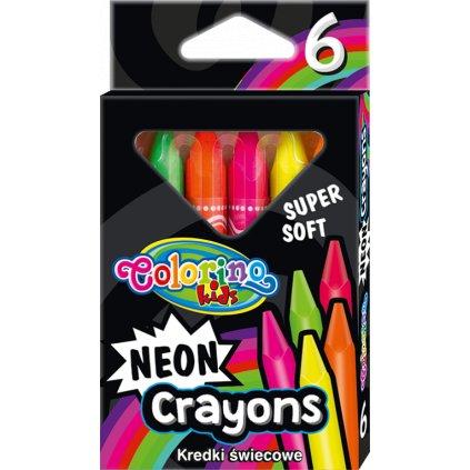 voskovky neon 6 ks