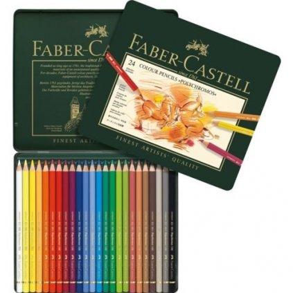 Faber-Castell, 110024, Polychromos, umělecké pastelky nejvyšší kvality, 24 ks