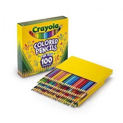 Crayola, 68-8100, Colored pencils, klasické pastelky, 100 ks, 2. jakost