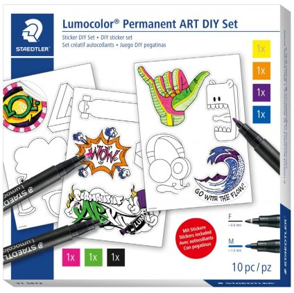 lumocolor se třemi samolepkami