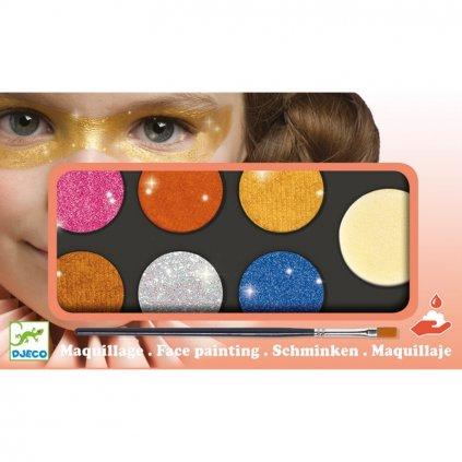 barvy na obličej třpytkové