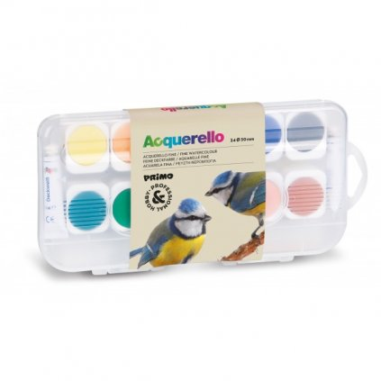akvarelové barvy 24 ks