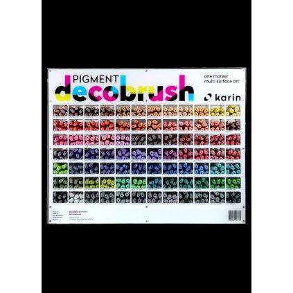 Karin, PIGMENT DECO BRUSH, akrylové štětečkové popisovače, mix barev, 1 ks