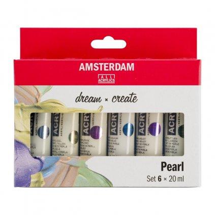 akrylové barvy Amsterdam pearl