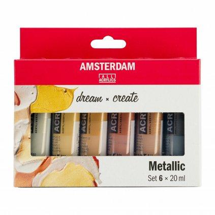 akrylové barvy Amsterdam metallic