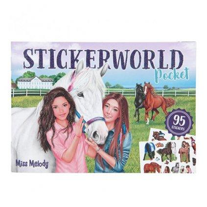 Miss Melody, 3426487, Stickerword Pocket, kreativní sešit se samolepkami