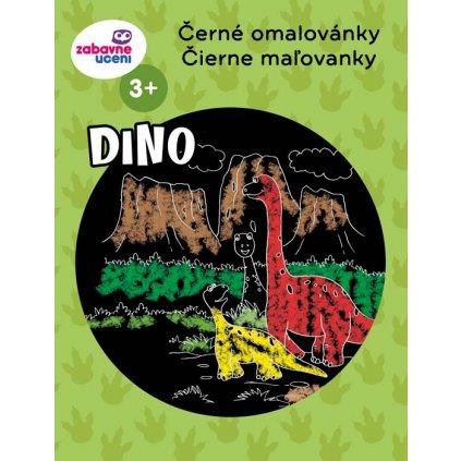 Ditipo, 5426004, černé omalovánky, Dinosauři, A4