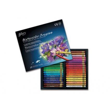 Mungyo, MAC36, Watercolor crayons, sada akvarelových pastelů, 36 ks