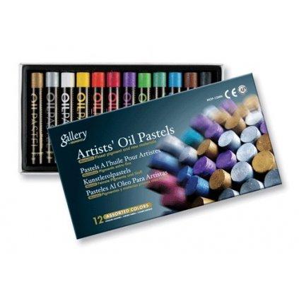 Mungyo, MOP12MN, sada olejových pastelů, metalické barvy, 12 ks