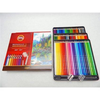 Koh-i-noor, 3714072001KZ, Mondeluz, souprava akvarelových pastelek, 72 ks