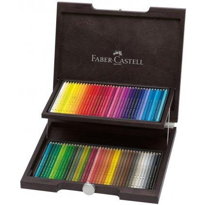 Faber Castell, 110072, Polychromos, umělecké pastelky nejvyšší kvality, dřevěná kazeta, 72 ks