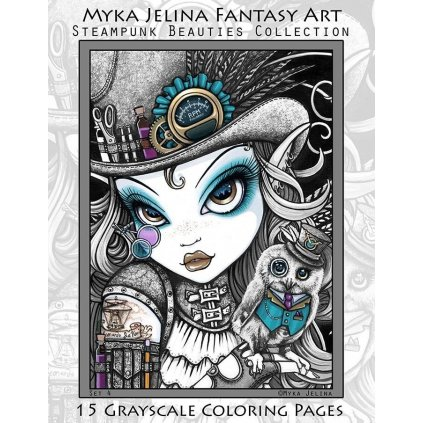 Myka Jelina, Steampunk Beauties Fairy Angel Grayscale
