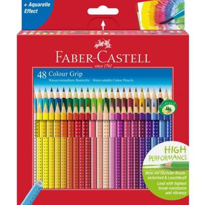Faber-Castell, 112449, Colour Grip, akvarelové pastelky, 48 ks