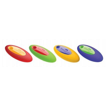 Faber-Castell, 182330, stěrací pryž Oval PVC-FREE, různé barvy