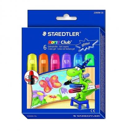 Staedtler, 2390M C6, Noris club, olejové pastely, třpytivé , 6 ks