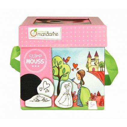 Avenue Mandarine, 52571, dětská razítka s omalovánkami Princezny