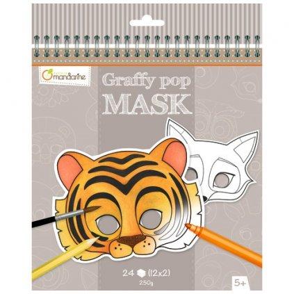 karnevalové masky zvířata