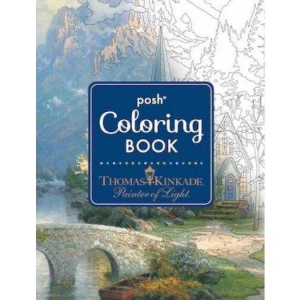 Posh Adult Coloring Book, Thomas Kinkade