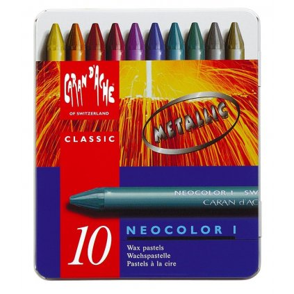 Caran d´Ache, 7004.310, Neocolor I., umělecké olejové pastely, 10 kusů