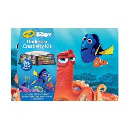 """Crayola, 04-2015, Undersea creativity kit, cestovní sada """"Hledá se Dory"""", 125 kusů"""
