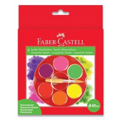 Faber-Castell, 125006, sada akvarelových vodových barev, 6 neonových barev