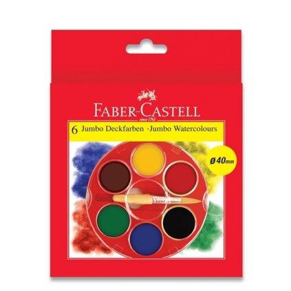 Faber-Castell, 125007, sada akvarelových vodových barev, 6 klasických barev