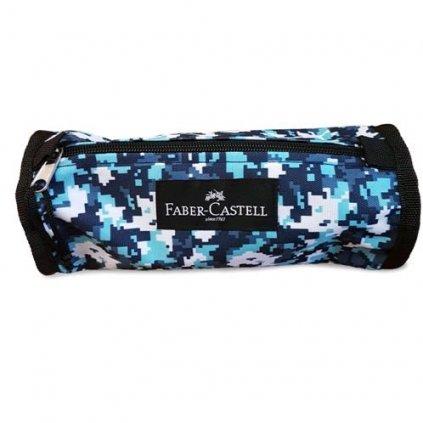 Faber-Castell, 573553, pouzdro College colour na tužky a pastelky, odstíny modré
