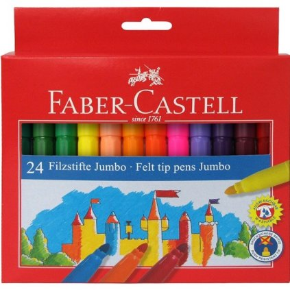 Faber-Castell, 554324, popisovače Jumbo, 24 ks