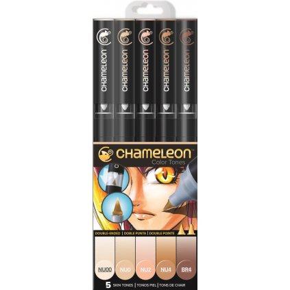 CHAMELEON, CT0510, Color Tones, 5 Pen set, stínovací popisovače, 5 ks, Skin tones