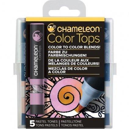 CHAMELEON, CT4501, Color tops, tonovací nástavce pro popisovače,  5 ks, Pastel tones
