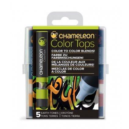 CHAMELEON, CT4503, Color tops, tonovací nástavce pro popisovače,  5 ks, Earth tones