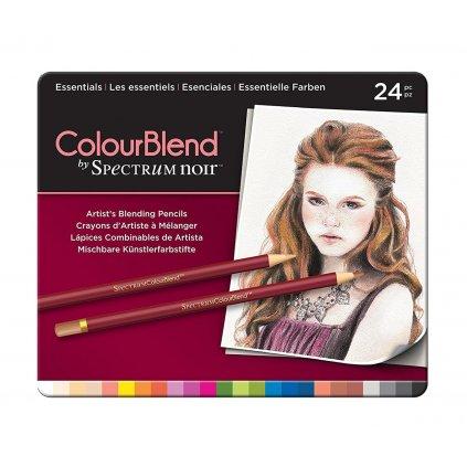 Spectrum Noir, SPECCB-ESS24, umělecké pastelky, sada 24 ks, Essentials