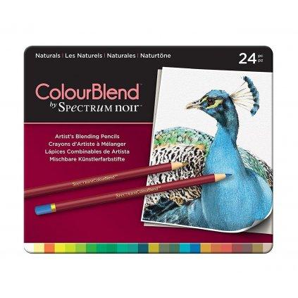 Spectrum Noir, SPECCB-NAT24, umělecké pastelky, sada 24 ks, Naturals