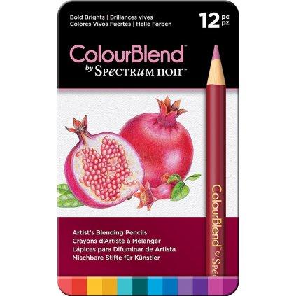 Spectrum Noir, SPECCB-BOLD12, umělecké pastelky, sada 12 ks, Bold brights