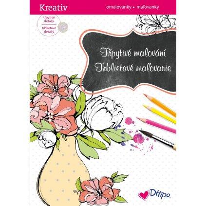 Ditipo, 7005001, Třpytivé malování, Váza s květinami