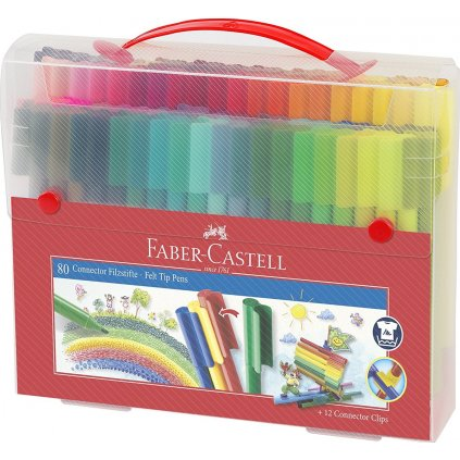 Faber-Castell, 155579, Connector, fixy, 80 ks