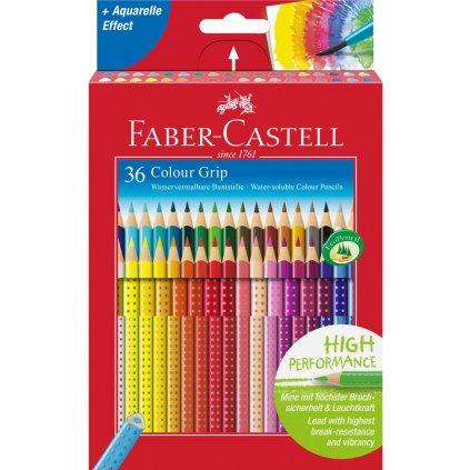 Faber-Castell, 112442, Colour Grip, akvarelové pastelky, 36 ks