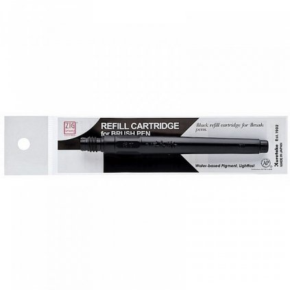 Kuretake, CNDAN111-99, Zig, náhradní náplň pro Brush pen No. 22, No. 24, černá 1 ks