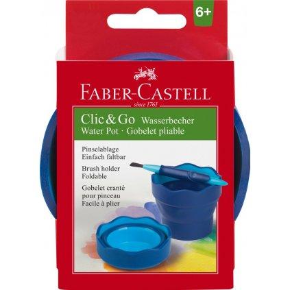 Faber-Castell, 181510, kelímek na vodu CLIC&GO, modrá, 1 ks
