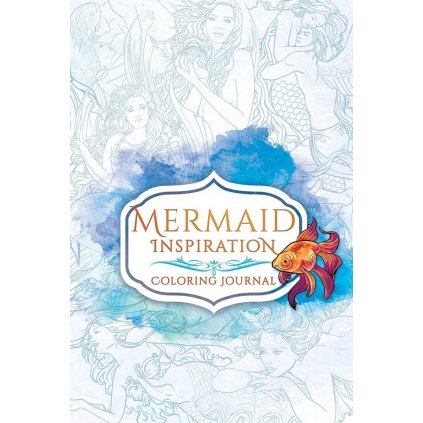 Mermaid inspiration coloring journal, Selina Fenech