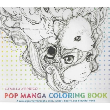 Pop Manga Coloring Book, Camilla D'Errico