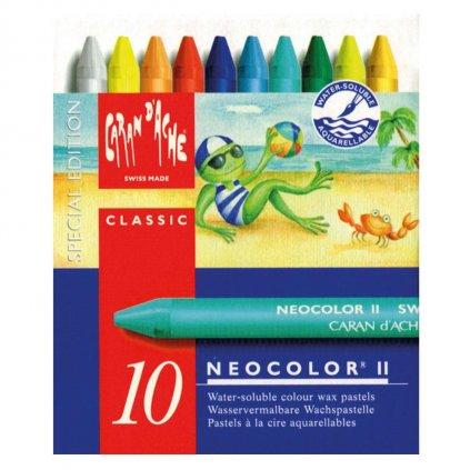 Caran d´Ache, 7500.912, Neocolor II., akvarelové pastely, limitovaná edice, summer colours, 10 ks