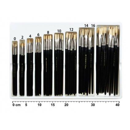 MFP, 6340125, sada plochých štětců na akvarel, 108 ks, různé velikosti
