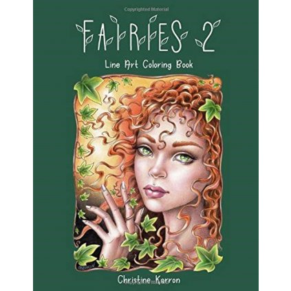 Fairies 2, line art colouring book, Christine Karron